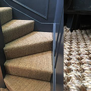 Sisal Flooring Fully Fitted to a Stairs and Landing