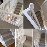 Telenzo 100% Wool Loop Runner Fitted To Stairs