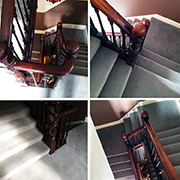 Westex Prestige Velvet Carpet fitted to a Victorian staircase