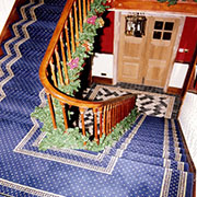 Ulster Carpets Sheridan Royal Blue Pindot Fitted With a Single Border.