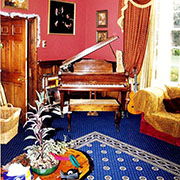 Ulster Carpets Sheridan Royal Blue Cameo fitted With an Internal Border.