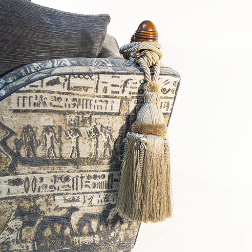 Gascoigne Designs James Knole Sofa in Egyptian Themed Fabric2