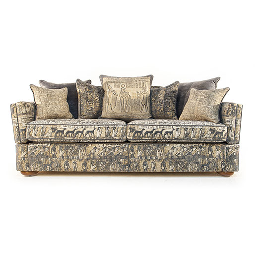 Gascoigne Designs James Knole Sofa in Egyptian Themed Fabric