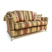 Gascoigne Designs James Knole 3 Seater & 2.5 Seater Sofas in Red Gold Fabric