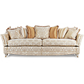 Gascoigne Designs Bellagio Knole Three And A Half Seater Sofa Fabric D