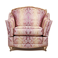 Gascoigne Designs Bellagio Chair With Working Arms And Finials Fabric C