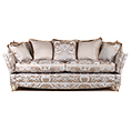 Gascoigne Designs Bellagio Three Seater Knole Sofa Fabric G