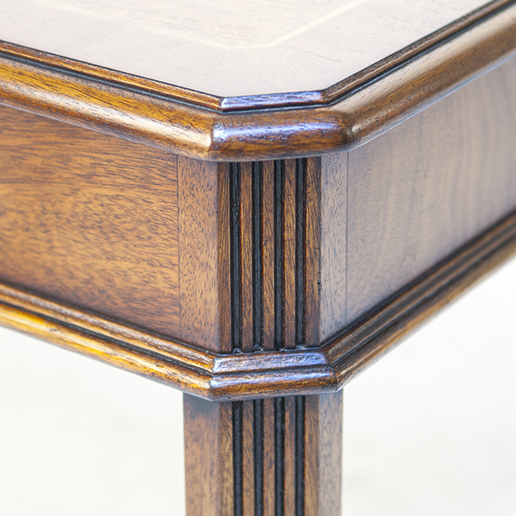 Iain James Mahogany Canted End Table bh