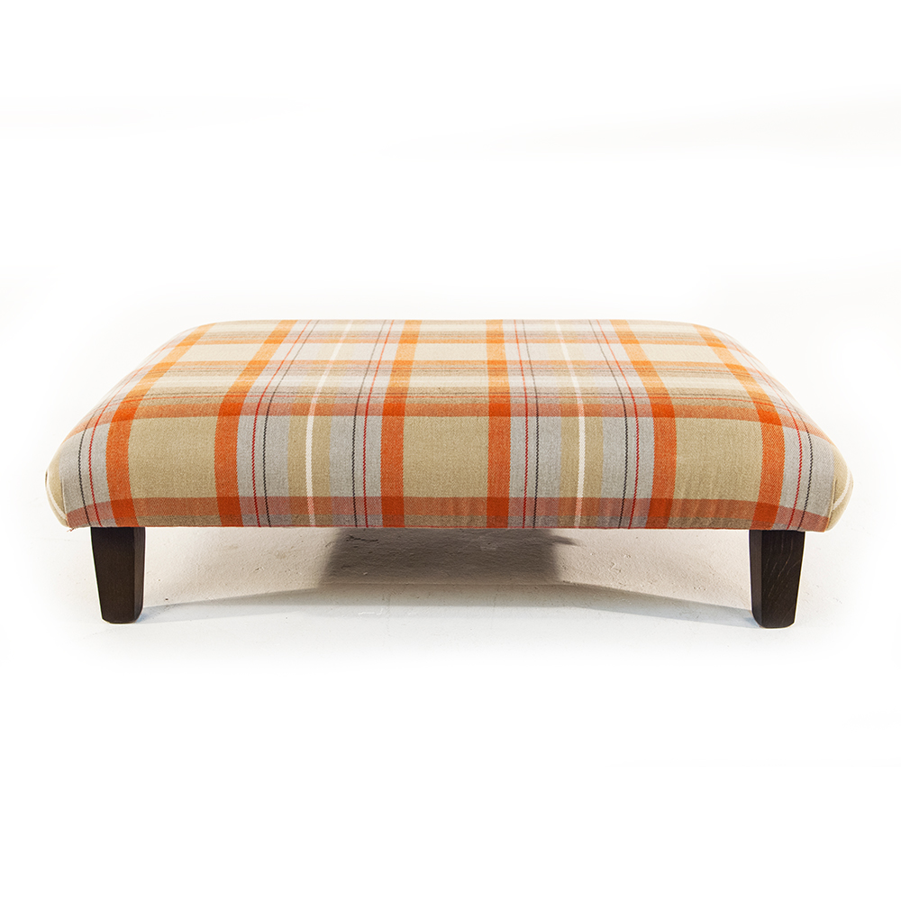 Henderson Russell Balmoral Stool In Balmoral Check Copper