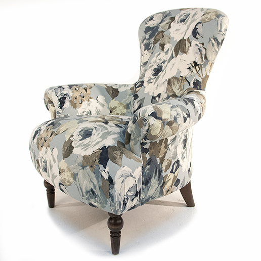 Henderson Russell Edmund Chair in Silva Flora Fabric