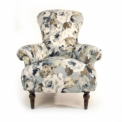 Henderson Russell Edmund Chair in Silva Flora Fabric 3