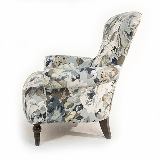 Henderson Russell Edmund Chair in Silva Flora Fabric 2