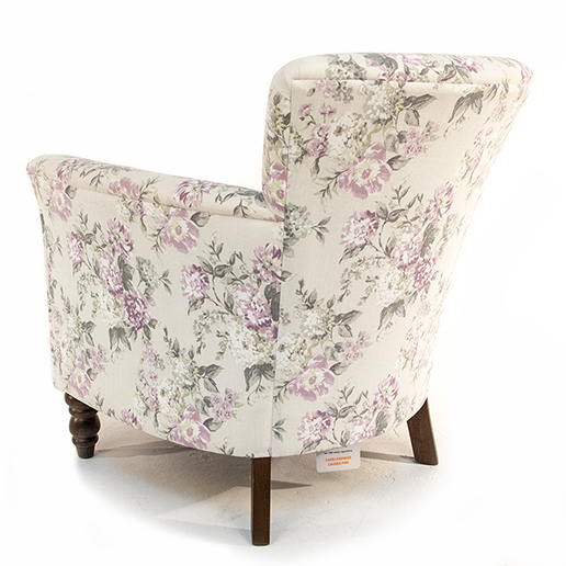 Henderson Russell Lottie Chair in Floral Fabric 2