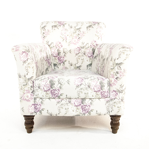 Henderson Russell Lottie Chair in Floral Fabric 3