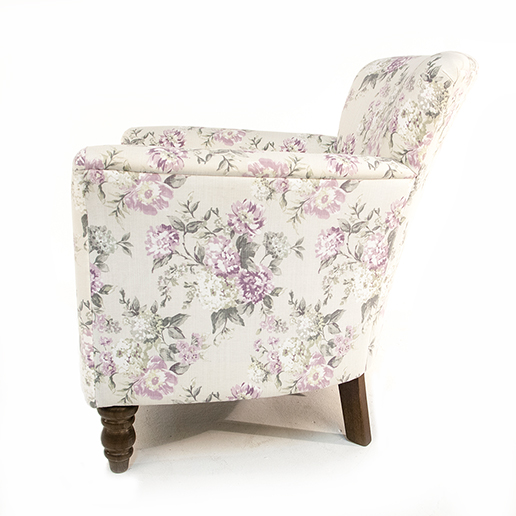 Henderson Russell Lottie Chair in Floral Fabric 4