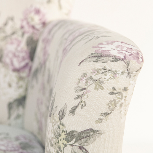 Henderson Russell Lottie Chair in Floral Fabric 5