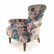 John Sankey Edmund Chair in Waterflower Fabric