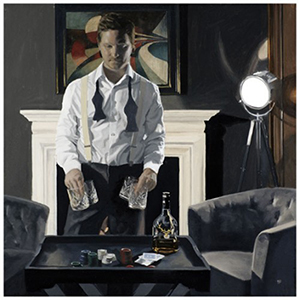 Iain Faulkner Poker Night (Framed)