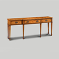 Iain James Furniture Walnut Breakfront Console Table AMC111