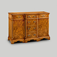 Iain James Furniture Breakfront Credenza & Canted Ends W195