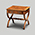 Iain James Furniture AMC169 Walnut Scissor End Table With Drawer