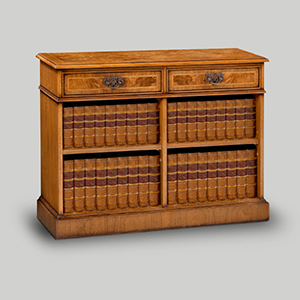 Iain James Furniture AMC285 Walnut 2 Drawer Open Bookcase