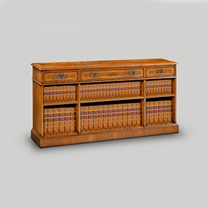 Iain James Furniture AMC286 Walnut 3 Drawer Open Bookcase