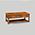 Iain James Furniture AMC291 Walnut 2 Drawer Coffee Table