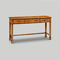 Iain James Furniture AMC295 Walnut 3 Drawer Console Table