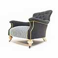 John Sankey Slipper Chair Black Wool With Dogtooth at Kings of Nottingham for that better John Sankey deal.