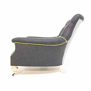 John Sankey Slipper Chair Black Wool With Dogtooth 4
