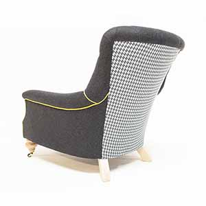 John Sankey Slipper Chair Black Wool With Dogtooth 2