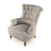 John Sankey Hepburn Chair in Rodin Slate