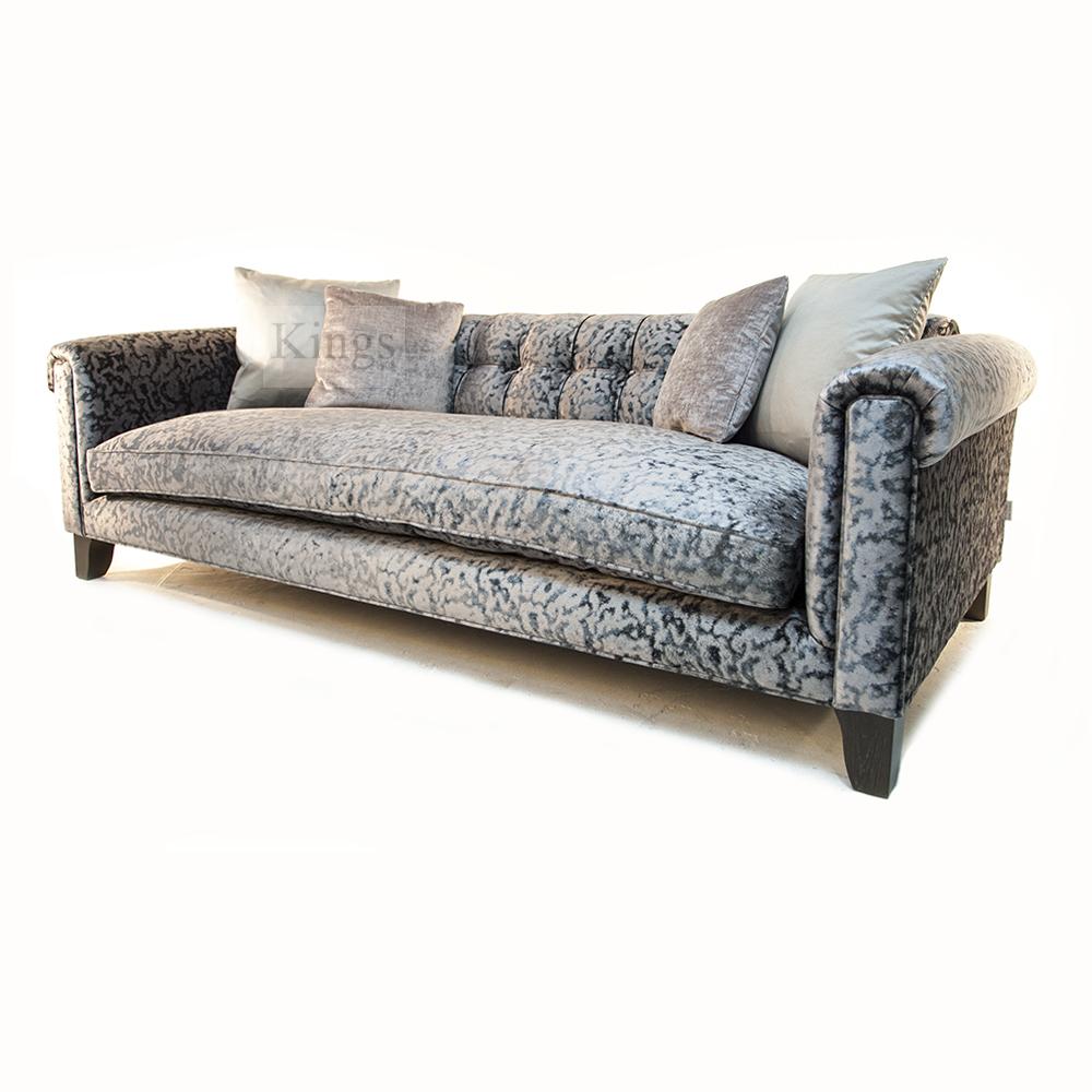 John Sankey Mitford Grand Sofa In Bellini Velvet Kings