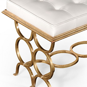 Jonathan Charles Select Collection Luxe Gilded 'Circles' Bench ST 494186 / Jonathan Charles Fine Furniture at Kings always for the best service and prices