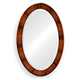 Jonathan Charles Select Collection Santos Rosewood Art Deco Oval Mirror ST 494073 / 494112 / Jonathan Charles Fine Furniture at Kings always for the best service and prices