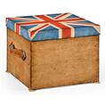 Jonathan Charles Select Collection Painted Union Jack Square Box ST 494423 / Jonathan Charles Fine Furniture at Kings always for the best service and prices