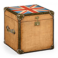Jonathan Charles Select Collection Painted Union Jack Square Trunk ST 494434 / Jonathan Charles Fine Furniture at Kings always for the best service and prices