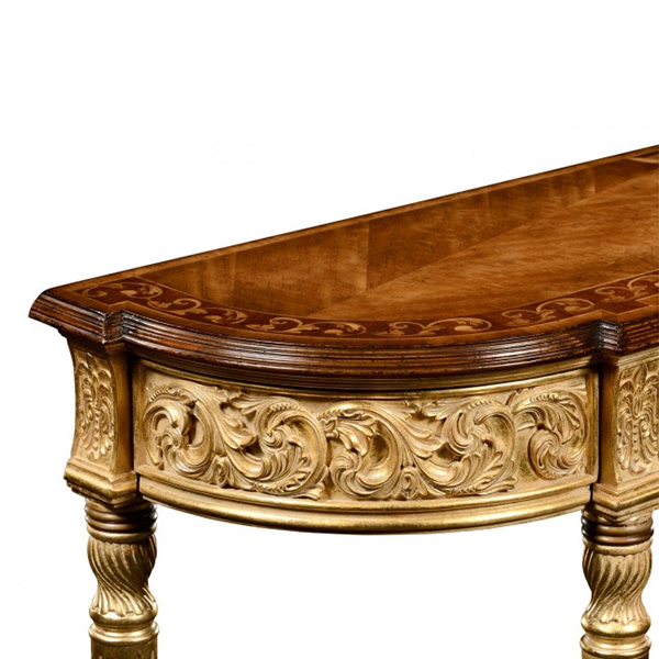 Jonathan Charles Select Collection Louis IV Style Narrow Gilt Console QS  493239 / Jonathan Charles Fine