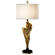 Jonathan Charles Angel Wing Gilded Table Lamp 495118
