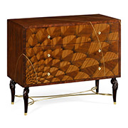 Jonathan Charles Icarus Collection Feather Inlay Chest of Drawers 500022 ZEB