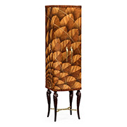 Jonathan Charles Icarus Collection Feather Inlay Drinks Cabinet 500023 ZEB