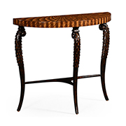Jonathan Charles Icarus Collection Feather Inlay Hand Carved Console Table 494956 ZEB