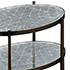 Jonathan Charles Luxe Eglomise and Iron Three Tier Table in Bronze vft