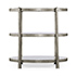 Jonathan Charles Luxe eglomise and Iron Silver leaf Three Tier Table