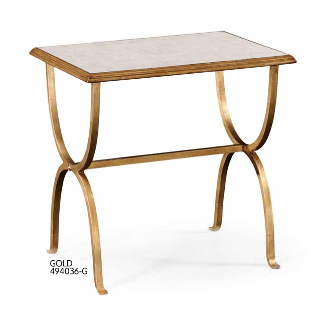 jonathan charles select collection luxe eglomise u0026 iron rectangular side table qs jonathan charles fine furniture at kings always for the best