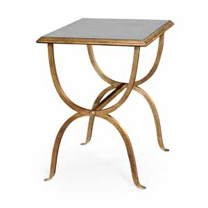Jonathan Charles Select Collection Luxe Eglomise & Iron Rectangular Side Table QS 494036 / Jonathan Charles Fine Furniture at Kings always for the best service and prices