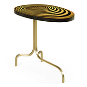 Jonathan Charles 3D Op Art Oval Sofa Table With Tripod Base 500089 SWB