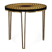 Jonathan Charles Op Art Helical Round Lamp Table 500081-SWB