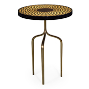 Jonathan Charles Op Art Helical Wine Table With Tripod Base 500079 SWB